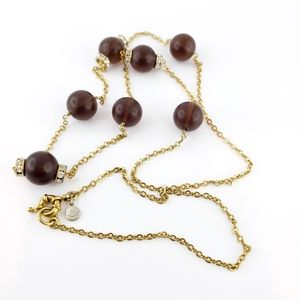 J. Crew long necklace brown acrylic beads